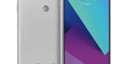 Uusi Samsung Galaxy J3 (2017) AT&T-operaattorin logolla varustettuna.