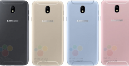 WinFuture.den kuvat paljastavat Galaxy J5 (2017):n myös takaa.