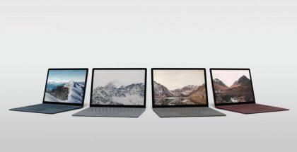 Surface Laptop eri väreissä.