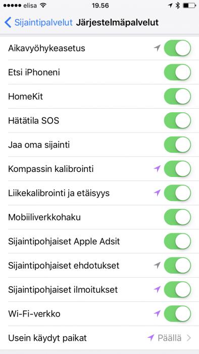 iPhone proactive reittiehdotus