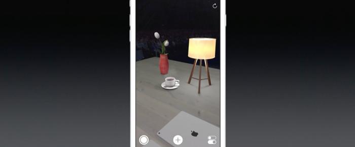 ARKit mahdollistaa objektien tosimaailman kamerakuvan päälle sijoittamisen.