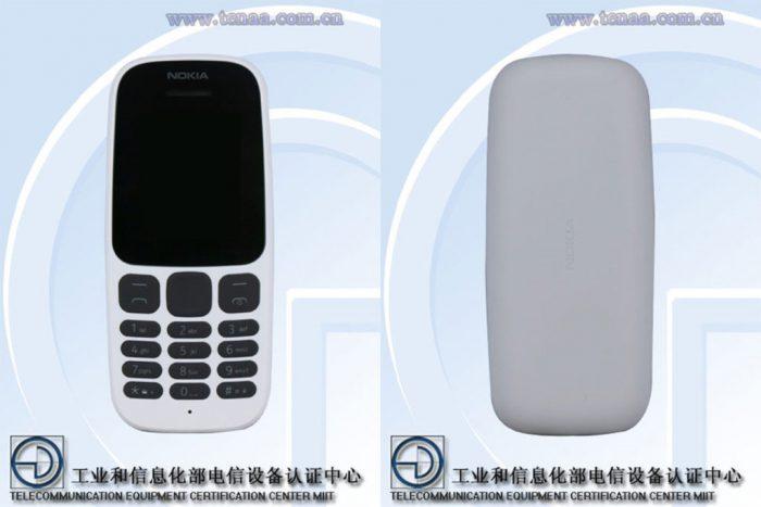 Nokia TA-1010 edestä ja takaa.