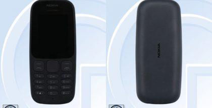 Nokia TA-1034 edestä ja takaa.
