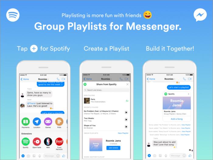 Messenger Spotify