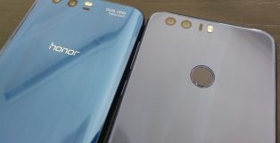 Siniset Honor 9 vs. Honor 8.