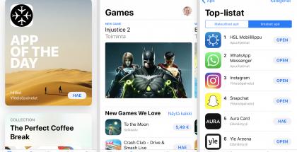 App Storen ilme ja järjestely menevät uusiksi iOS 11:ssä. Huomion kiinniittää uusi Tänään-etusivu.