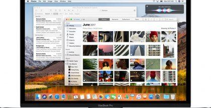 Nykyinen macOS High Sierra.