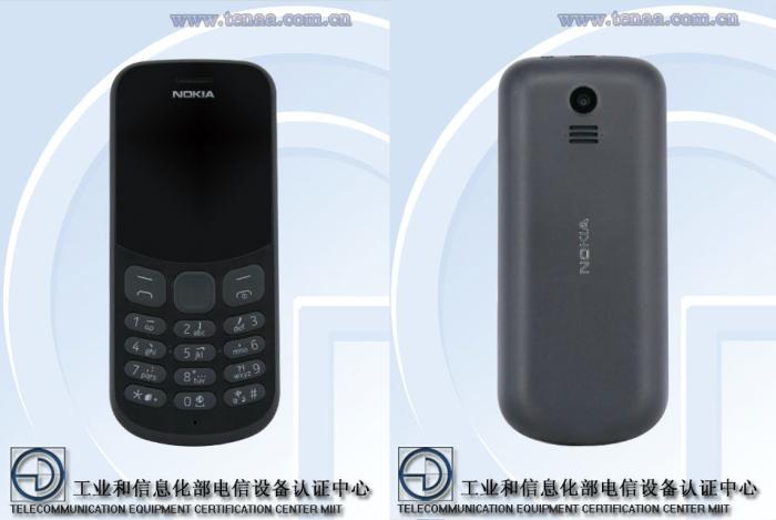 Nokia TA-1017 edestä ja takaa.