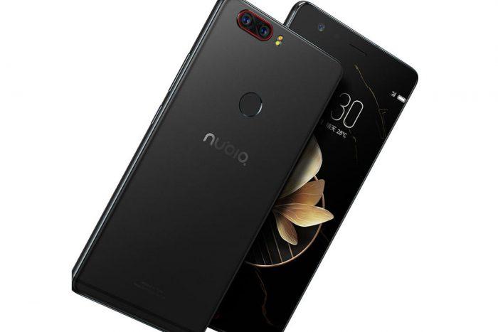 Nubia Z17:ssä on takana kaksi kameraa. Takaa puhelimen leikkaavia antennijuovia on vain yksi.