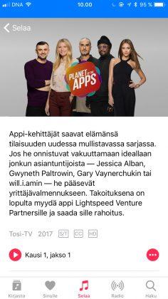 Planet of the Apps on katsottavissa muun muassa Apple Musiikin kautta.