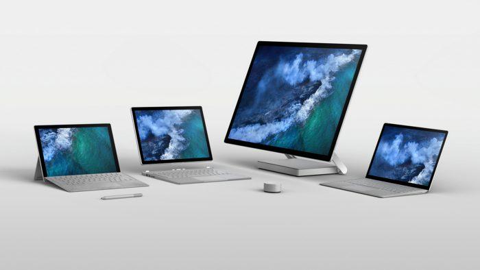 Nykyinen Surface-tuoteperhe.
