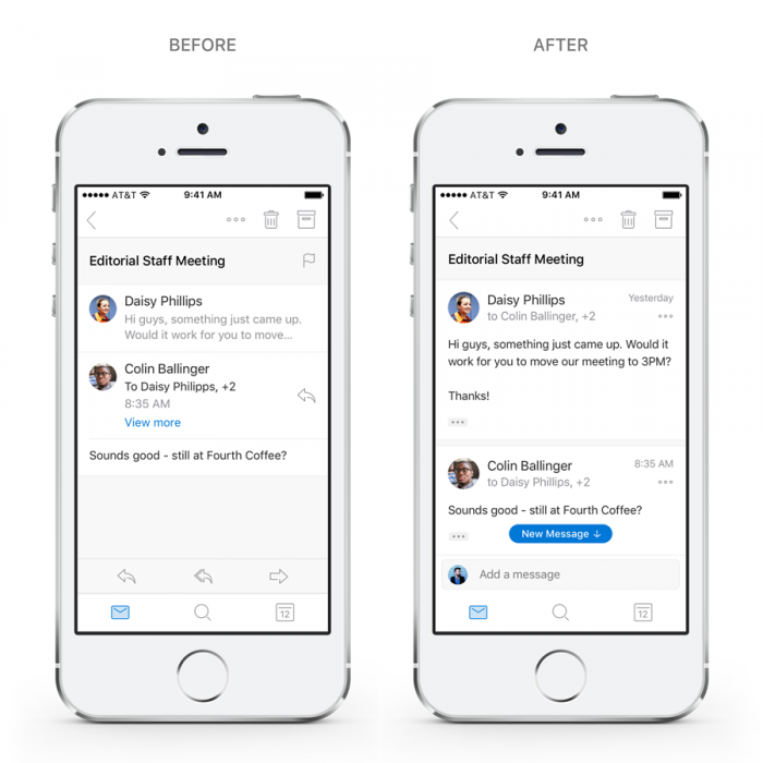 Microsoft Outlook iOS Android
