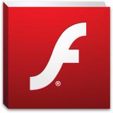 Adobe Flash logo.