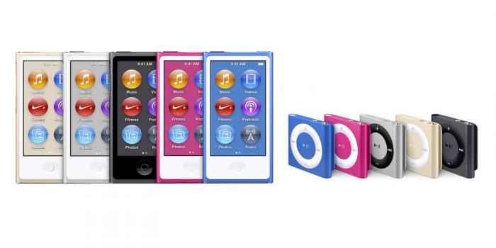 Apple iPod nano ja iPod shuffle.