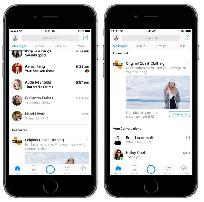 Facebook Messenger Viestit