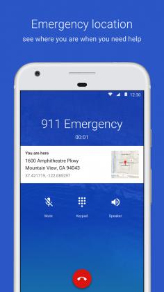 Googlen puhelinsovellus näyttää nyt sijaintitiedot hätäpuhelussa.