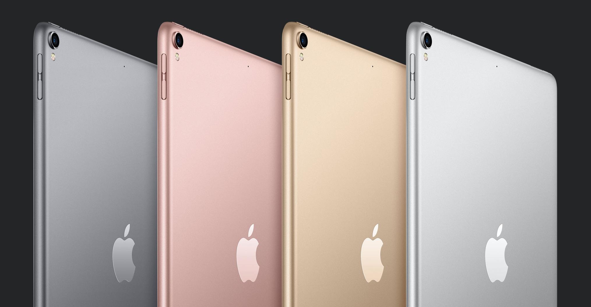 10,5 tuuman iPad Pro on saatavilla neljänä eri värivaihtoehtona.