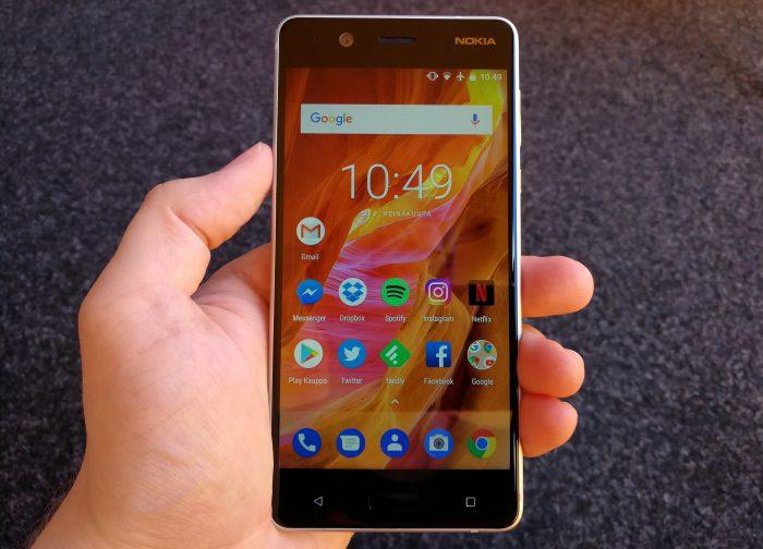 Nokia 5:n näyttö on ihan ok.