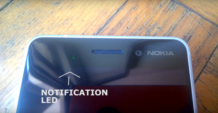 Kiinan versiossa Nokia 6:sta on LED-ilmoitusvalo.