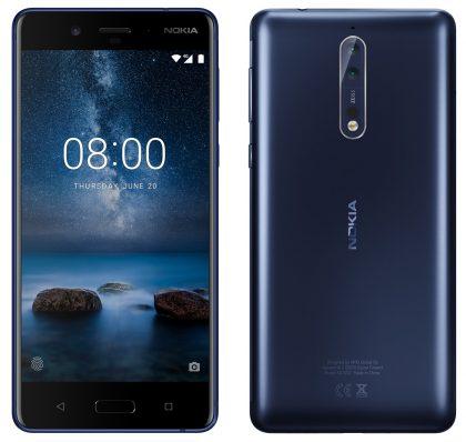 Nokia 8 sinisenä, Evan Blassin julkaisema kuva.