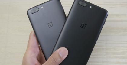 OnePlus 5 -puhelimia.