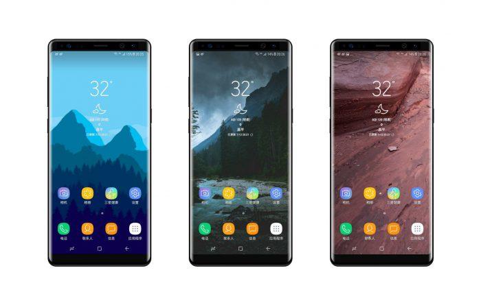 Samsung Galaxy Note8 väitetyssä vuotokuvassa.