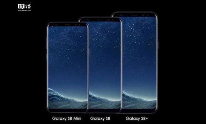 Tältä Galaxy S8 Mini voisi näyttää isompien rinnalla.
