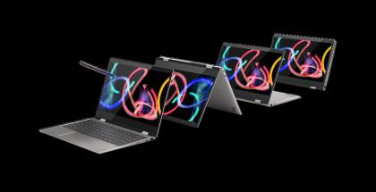 Lenovo Yoga 720 eri asennoissa.