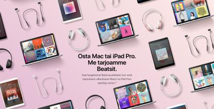 Apple tarjoaa Beats-kuulokkeita kaupan päälle.