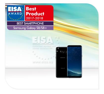 Parhaaksi älypuhelimeksi EISA poimi Samsungin Galaxy S8 ja S8+ -kaksikon.