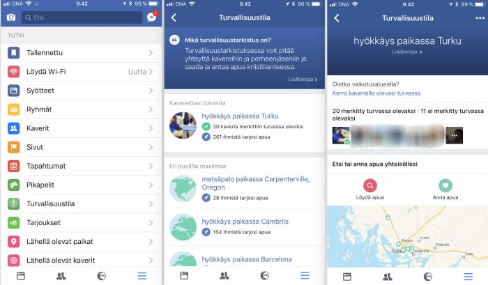 Facebookin Turvallisuustila laajenee pysyväksi toiminnoksi osana sovellusta.
