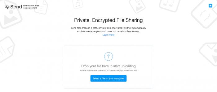Firefox Send on simppeli ja näppärä palvelu.