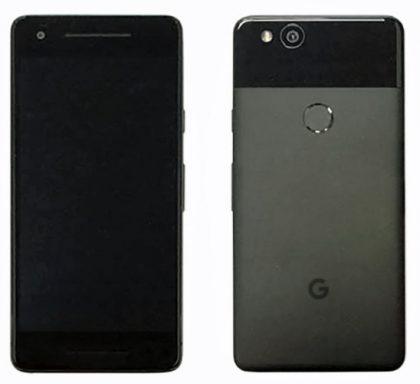 Googlen uusi Pixel vuosimallia 2017. Evan Blassin aiemmin vuotama kuva.