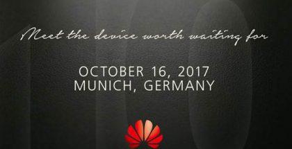 Huawei on lähettänyt kutsuja tapahtumaan 16. lokakuuta.