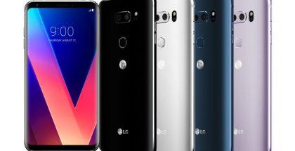 LG V30:n aiemmat värivaihtoehdot.