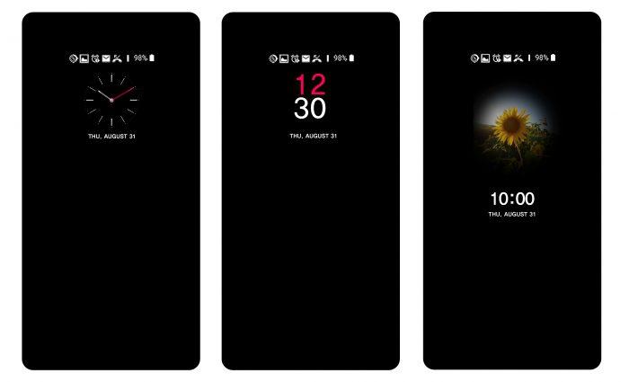 LG V30:n AOD-näyttötila kehittyy.