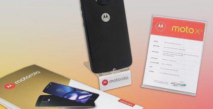 Moto X4 esillä teknisten tietojensa kera.