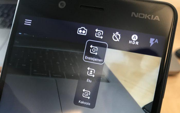 Nokia 8:lla voi kuvata myös yhtäaikaisesti taka- ja etukameralla.