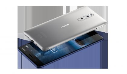 Nokia 8:n värivaihtoehdot teräs ja karkaistu sininen.
