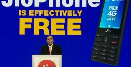 Reliance JioPhone on käytännössä ilmainen, koska ostettaessa maksettava panttimaksu palautetaan kolmen vuoden jälkeen.
