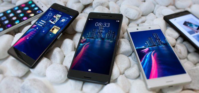 Sailfish-käyttöjärjestelmä Sony Xperia X:ssä.