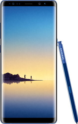Samsung Galaxy Note8 Deep Sea Blue. Evan Blassin julkaisema kuva.