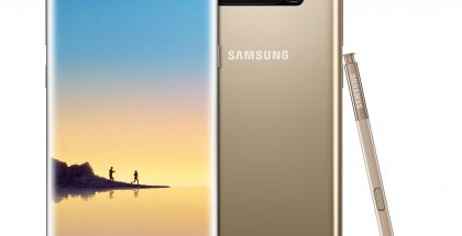 Samsung Galaxy Note8 Maple Gold.