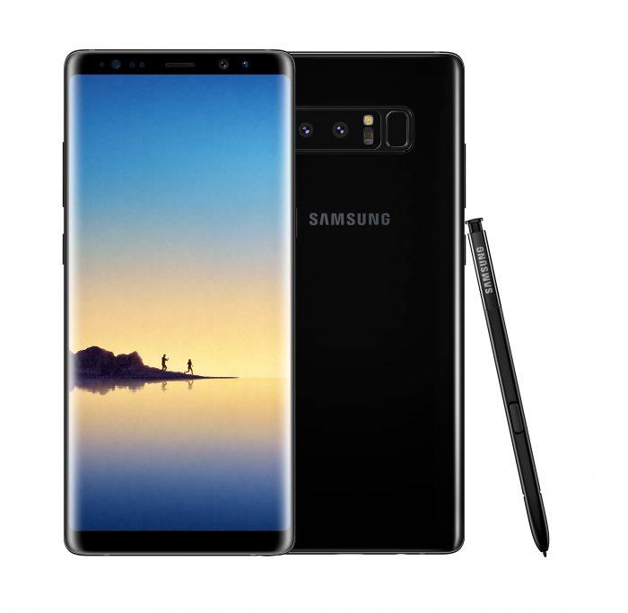 Samsung Galaxy Note8 Midnight Black.