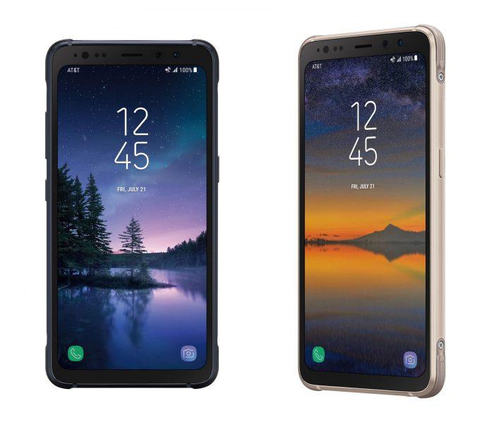 Samsung Galaxy S8 Activen kaksi värivaihtoehtoa.