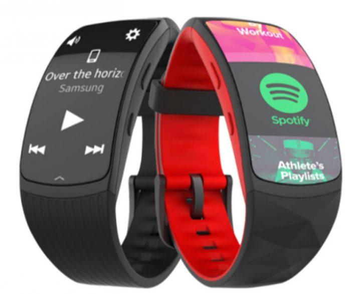 Gear Fit2 Pro tukee Spotify-musiikin kuuntelua offline-tilassa.