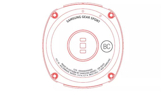 Samsungin Gear Sportista on nähty toistaiseksi tämän verran. Kuva FCC:n tietokannasta.