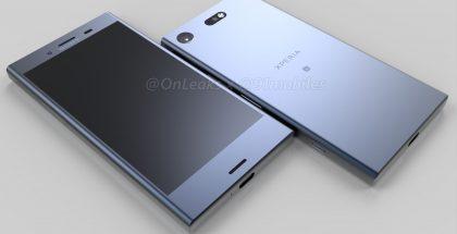 Sony Xperia XZ1 Compact OnLeaksin julkaisemassa kuvassa.