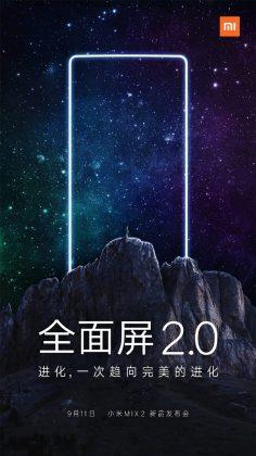 Xiaomin mukaan Mi Mix 2 -julkistus tapahtuu 11. syyskuuta.
