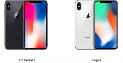 iPhone X -värivaihtoehdot.